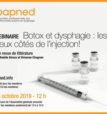 Webinaire 16 octobre Botox
